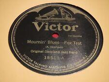 Original Dixieland Jazz Band Victor 18513 78 RPM Mournin' Marmalade Blues VG+