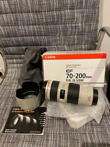 Canon EF 70-200mm f/4.0 IS USM L zoom camera lens