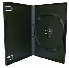 New Black Single DVD Case Cases 14mm Spine Standard Clear Front Cover Box 100