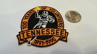 """Tennessee Vols volunteers Vintage Embroidered Iron On Patch  2.5"""" x 2""""  1891 A1"""