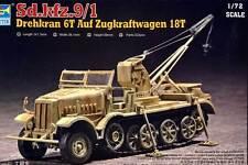 Trumpeter Drehkran 6t auf Zugkraftwagen 18t Sd.Kfz. 9/1 Modell-Bausatz 1:72 kit