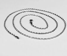 "14kt SOLID WHITE Gold ROPE Pendant link Chain/Necklace 16"" 2 mm 3.5 grams WRO14"