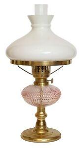Wunderschöne Petroleum Tischlampe Vintage Shabby Messinglampe Polen