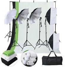 3 Stand 4 Light Kit Bulb Umbrella Photo Picture Studio Photography Tool
