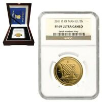 2011 Isle of Man 1/2 oz Gold Noble NGC PF 69 UCAM (w/Box & COA)