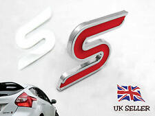 ZETEC S BADGE LOGO EMBLEM ADHESIVE STICKER FOR BOOT FORD FIESTA FOCUS METAL