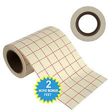 "12"" x 8' Transfer Paper Tape Roll Alignment w/ Grid for DIY Craft Adhesive Vinyl"