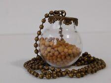 "Handmade Faith Mustard Seed Jewelry Necklace Glass 1"" Free Ship USA Seller"