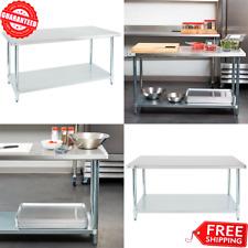 """30"""" x 60"""" Stainless Steel Work Prep Shelf Table Commercial Restaurant 18 Gauge"""