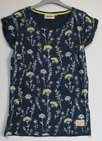 New Brakeburn Navy Cow Parsley Summer T Shirt Top - Size 8 - 16