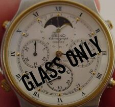 HI QULAITY GLASS CRYSTAL FOR SEIKO 7A48-7000 7A48-7009 Moon Phase Chronograph