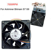 7500RPM Cooling Fan Replacement 4-pin Connector For Antminer Bitmain S7 S9 Black