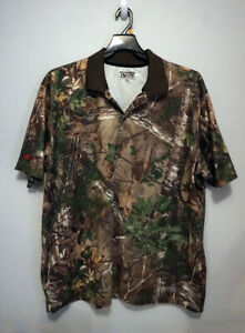 Gander Mountain Mens Camo Polo Shirt By Realtree Guide Series Size 2XL