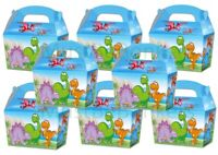 Dinosaur CARTOON Boys Party Food Boxes ~ Childrens Picnic Birthday Bag Plate Box