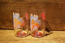 "Rosenthal DAISIES  - Set of 2 glasses ""small""  - Andy Warhol - New old stock!"