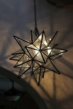 """Moravian Star -18"""" clear glass   26 point"""