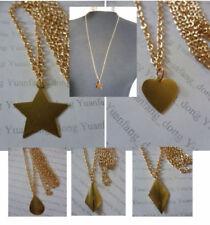 Collares y colgantes de bisutería cadena de color principal oro aleación