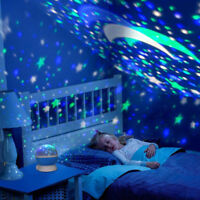 Night Light Kids Lamp, Romantic Rotating Sky Moon & Cosmos Cover Projector Night