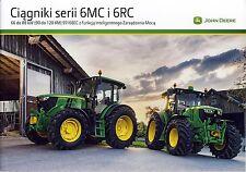 John Deere 6MC 6RC 10 / 2013 catalogue brochure tracteur Traktor