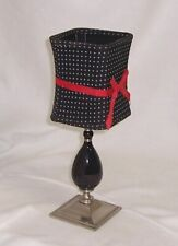 Partylite Audrey Candle Lamp Brushed Metal, Black Red Cute Adorable P8812