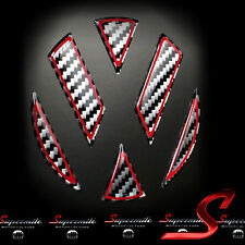 Carbon Design 3D Aufkleber Sticker Dekor für VW Emblem Heck VW GOLF 6 GTI R TSI