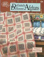 Definitely Different Afghans Crochet Patterns ASN 1288 Diana Lynn Sippel NEW