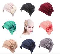 Womens Flower Cancer Chemo Hat Muslim Hijab Hair Loss Head Scarf Turban Cap Wrap