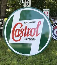 "Antique Vintage Old Style Castrol Motor Oil Sign. 40""! WOW! FREE SHIPPING"