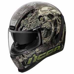 Icon Airform Parahuman Black Motorcycle Motorbike Helmets