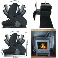 VODA 4.9 inches Mini Heat Powered Stove Fan for Small Space Wood/Log Burner/Fire