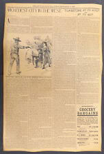 San Francisco Call Tombstone Article Newspaper Mock-up, wanted, Arizona Old West