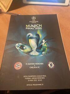 19/5/2012 CHAMPIONS LEAGUE FINAL CHELSEA v BAYERN MUNICH OFFICIAL PROGRAMME