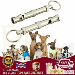 Dog Whistle Puppy Training High Pitch Sound Adjustable Key Chain