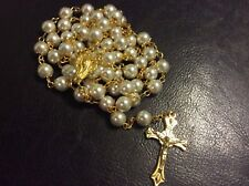 Blessed Papa Francisco Rosary Vatican 12/24/2017 capped glass Pearl