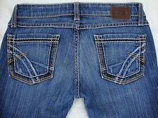 BKE Starlite Flare Distressed Blue Denim Jeans Size 25R The Buckle 25 X 31 1/2