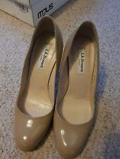 LK Bennett Shilo Nude Beige Patent Leather  Pumps Court Shoes Heels UK 4 RRP£170