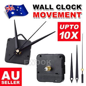 2X Silent DIY Quartz Movement Wall Clock Motor Mechanism Long Spindle Repair Kit