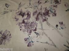 """Designers guild curtain fabric """"oriental fleur"""" 3.5 mètres chardon 100% soie"""