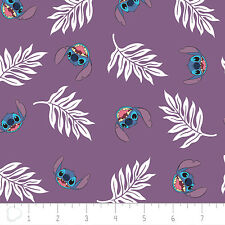 Disney Lilo & Stitch Fabric Palm Leaves-Wildberry  Camelot Cotton BTY