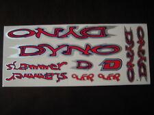 DYNO Slammer Stickers Red, Darkblue & Silver.