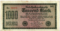 1923 GERMANY / WEIMAR REPUBLIC / 1000 MARK / HYPERINFLATION MARK   #RM40