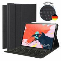 DEUTSCHE Tastatur für iPad Pro 12.9 2018 QWERTZ Bluetooth Schutzhülle Leder Case