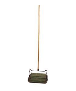 Antique Vtg 1920s Bissell Grand Rapids Manual Floor Sweeper Wood Handle Green