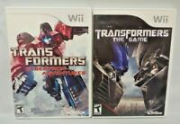 Transformers + Cybertron Adventures -  Nintendo Wii Wii U Game Lot Complete