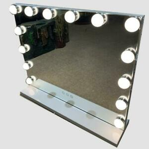 Hollywood Mirror Vanity LED 14 Light Bulbs Makeup Touch Dress-up Smart
