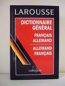 Dictionnaire général Larousse Français-Allemand et Allemand-Français, NEUF