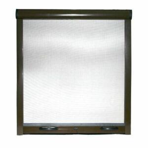 Zanzariera avvolgibile a rullo riducibile frizione porte finestre in kit marrone