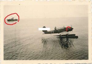 Norwegen Flugzeug AR 196 und Kriegsschiff VP-Boot U-Jäger 12 UJ Flottille  WK II
