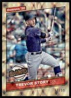 2020 Donruss Highlights Gold #H-5 Trevor Story /99 - Colorado Rockies