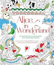 Alice Wonderland Cheshire Cat Fairytale Fantasy Adult Colouring Book Fairy Story